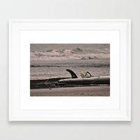 surfboard Framed Art Prints featuring Surfboard 1 by Becky Dix