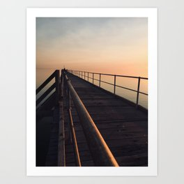 The Port Germein jetty is the longest in South Australia and, reputedly, the longest in the southern Art Print