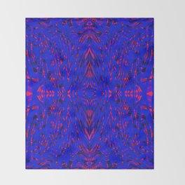 blue on red symmetry Throw Blanket
