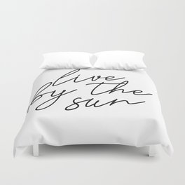 live by the sun love by the moon (1 of 2) Duvet Cover