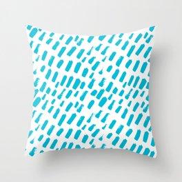 Dashing Darling - Aqua Throw Pillow