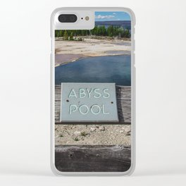 Abyss Pool, West Thumb Geyser Basin, Yellowstone National Park Clear iPhone Case
