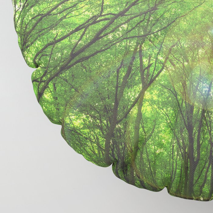 Endless Green Forest of Dreams Floor Pillow