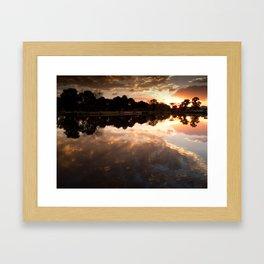 Lake of clouds Framed Art Print