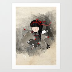 Wolf Angel Orfilia Art Print