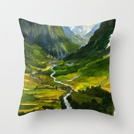 The Hidden Valley (original) Throw Pillow