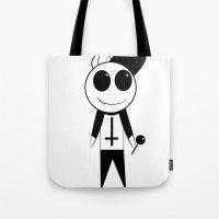 odd future Tote Bags featuring Odd Future - OFWGKTA - Mascot by NewWorldOrphans