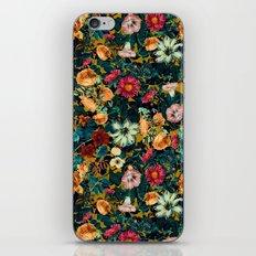 Floral Pattern Winter Garden iPhone Skin
