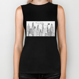 Gotham City Skyline Biker Tank
