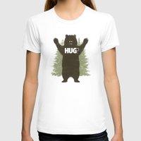 hug T-shirts featuring Bear Hug by powerpig