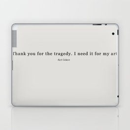 THANK YOU FOR THE TRAGEDY Laptop & iPad Skin