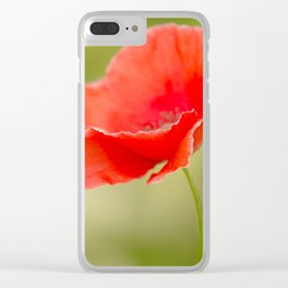 Miss you so much Red Poppy #decor #society6 Clear iPhone Case