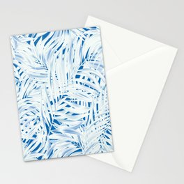 Tropical Palms Blue Stationery Cards