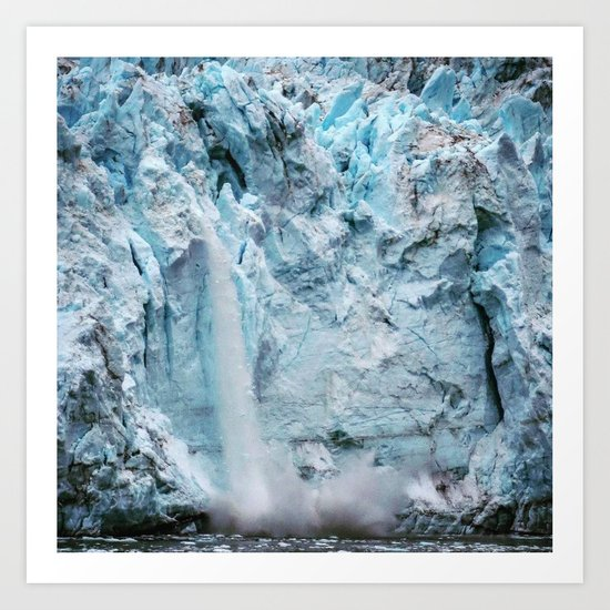 Falling Ice- Edit 2 Art Print