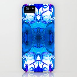 Blue Indian iconography iPhone Case