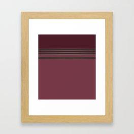 Burgundy combo pattern dark maroon Framed Art Print