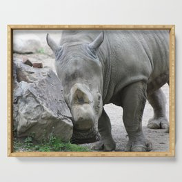 Cuddly Rhino Serving Tray