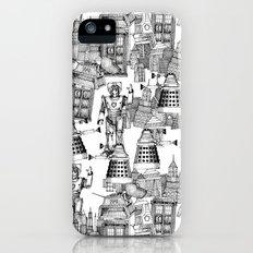 Doctor Who Toile de Jouy | 'Walking Doodle' | Black iPhone (5, 5s) Slim Case