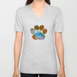 Dog Paw Print Unisex V-Neck