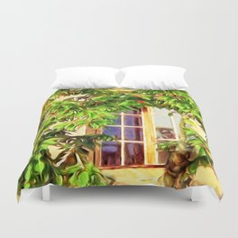 Garden Window Duvet Cover