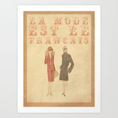 French Fashion Art Print