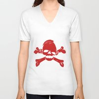 the goonies V-neck T-shirts featuring Goonies Never say die Red by Komrod