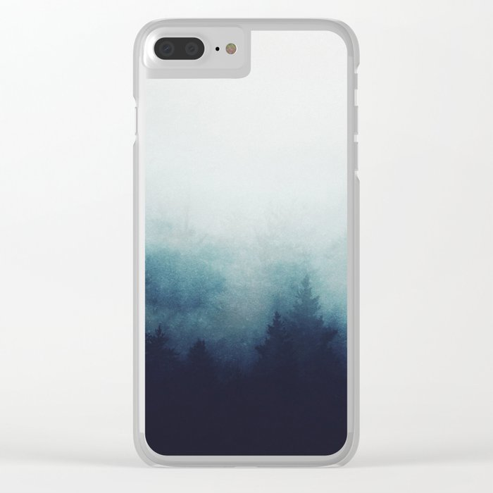 The space between Clear iPhone Case