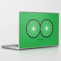 cycling Laptop & iPad Skins featuring Fig.8: cycling by micheleficeli