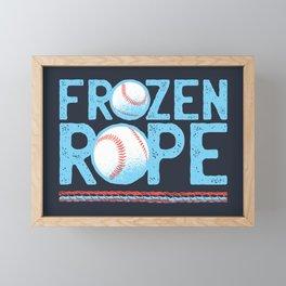 Baseball Frozen Rope Framed Mini Art Print