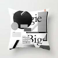 biggie Throw Pillows featuring Biggie by Mykola Dosenko