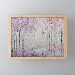 Pink Park Framed Mini Art Print