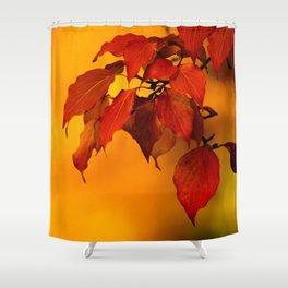 VIVID AUTUMNAL LEAVES Shower Curtain