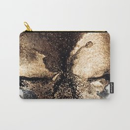 Black and gold abstract ink Carry-All Pouch