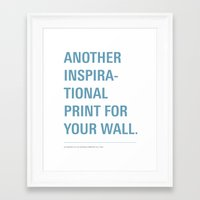 inspiration Framed Art Prints featuring Inspiration. by Oli Phillips