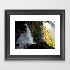 Over the Edge Framed Art Print