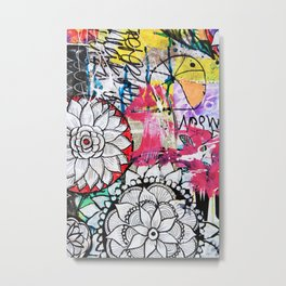 mixed media doodles Metal Print
