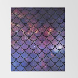 Galaxy Fish Scales Pattern Throw Blanket