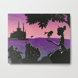 tiana and friends at sunset  Metal Print