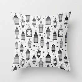 Marrakech Nights In White Throw Pillow