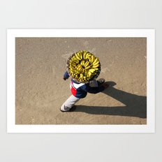 Banana Man Art Print
