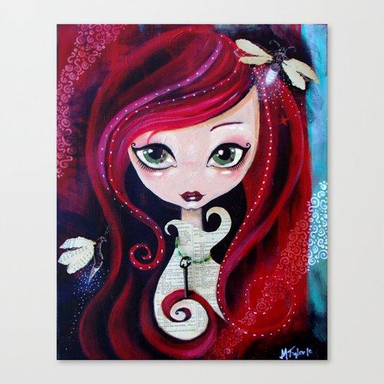 Red Portrait Canvas Print