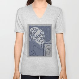 Dear Stephen Hawking / Stay Wild Collection Unisex V-Neck