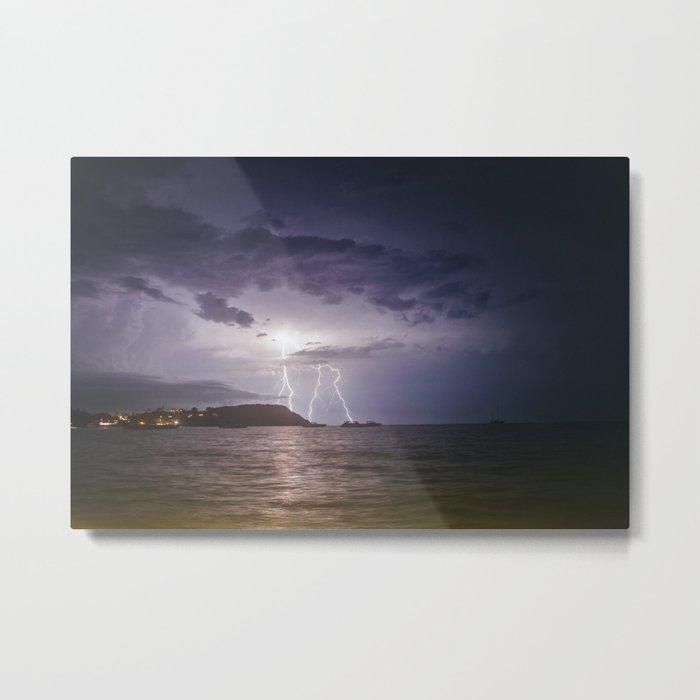 Lightning Storm over Koh Samui Metal Print