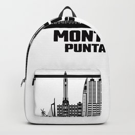 Montevideo Punta Gorda Uruguay Skyline Backpack