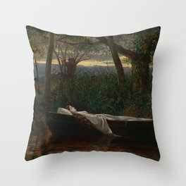"Walter Crane ""The Lady of Shalott"" Throw Pillow"
