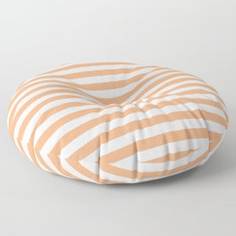 Cantaloupe and White Stripes Floor Pillow