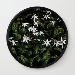 White Fawn Lilies; Open Your Heart Wall Clock