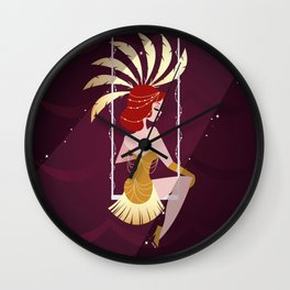 Vintage Circus - Scarlette Wall Clock