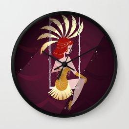 Vintage Circus - Scarlette Wall Clock