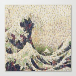 The Great Wave Of Honeydew Melon After Hokusai Canvas Print